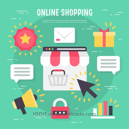 Free Business vector elements for online shopping