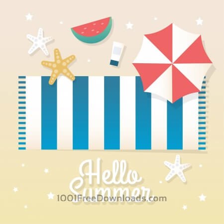 Free Summer background vector illustration
