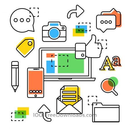 Free Line art vector icon design