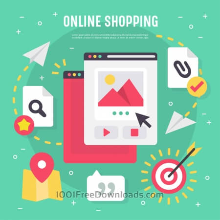 Free Online shopping vector elements