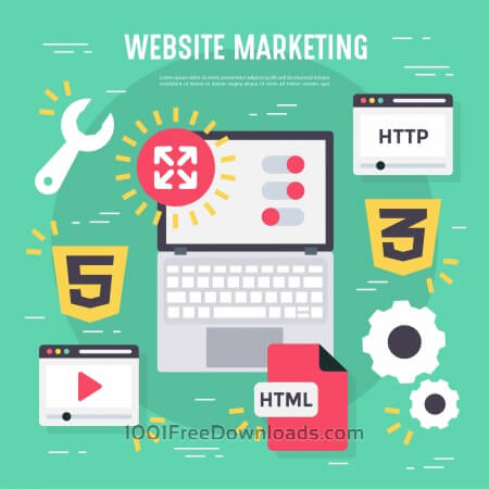 Free Website marketing vector elements and icons