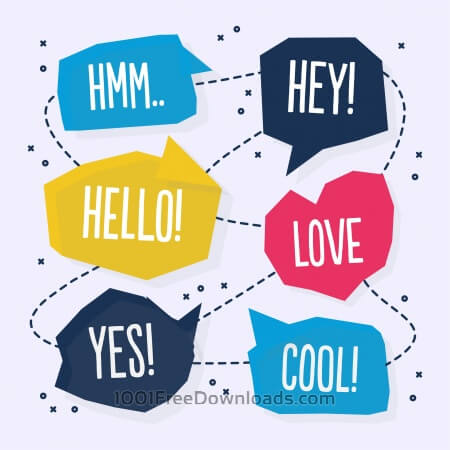 Free Vector abstract chat bubble design