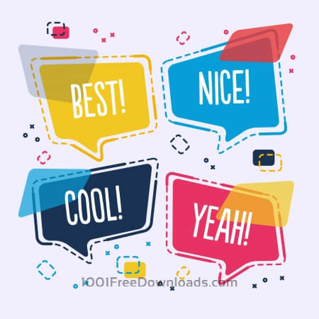 Free Modern abstract speech bubble vector design