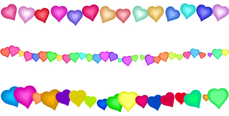 Free Heart Page Border Decorations