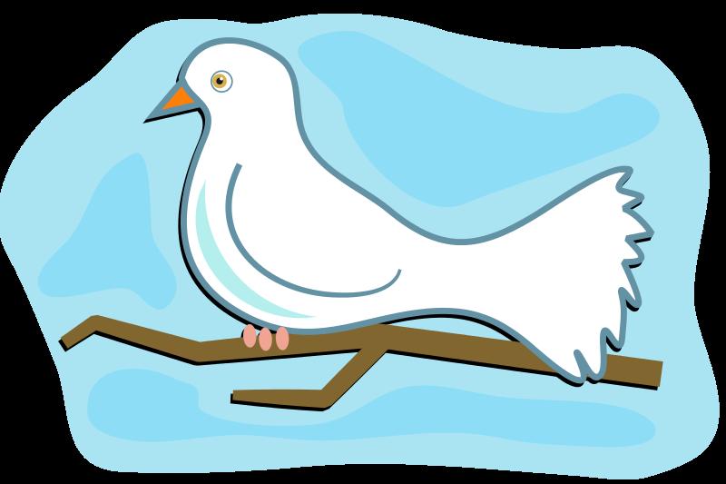 Free Clipart: White Dove | Prawny