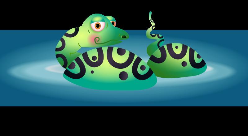 Free Snake in a Lake