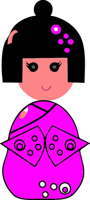 Free colored china girl 1