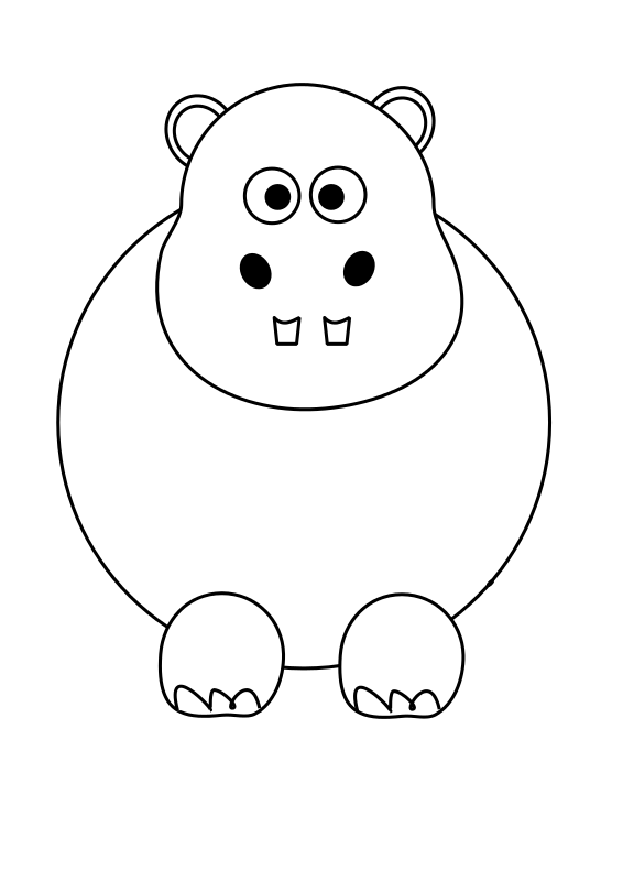 Free Clipart Hippo