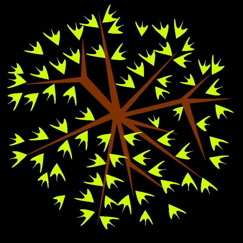 Free tree-12d