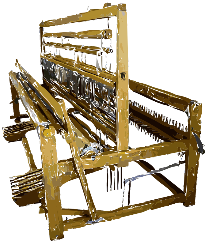 Free Old Fashioned Fabric Loom Vectorized