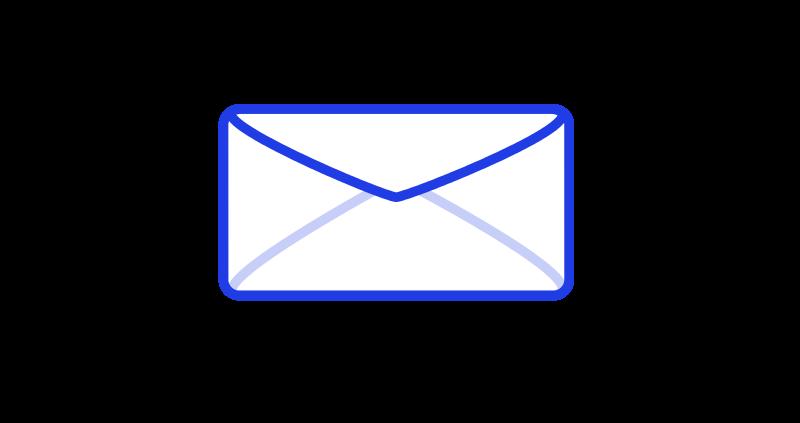 Free Mail Envelope blue