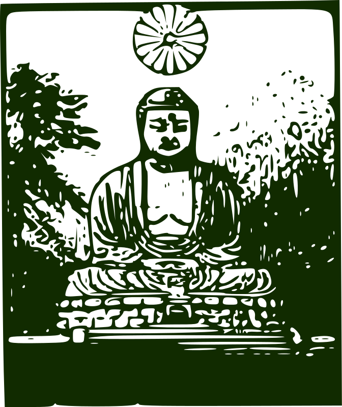 Free Clipart: Kamakura Daibutsu | j4p4n