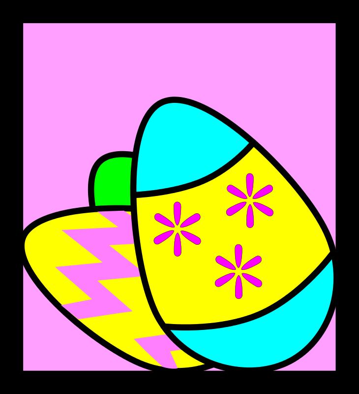 Free Three Easter Eggs Framed