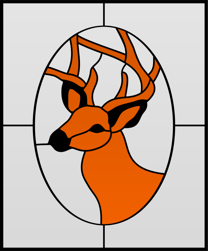 Free Deer Stained Glass