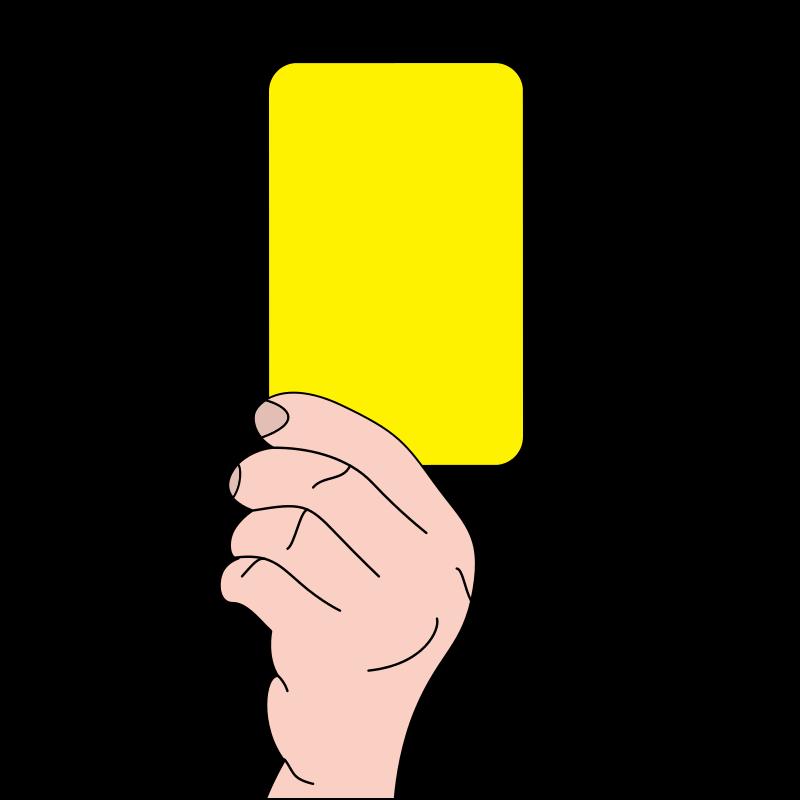 Výsledek obrázku pro yellow card png