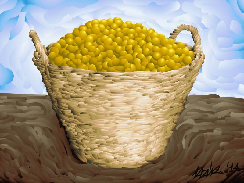 Free Gage plum basket