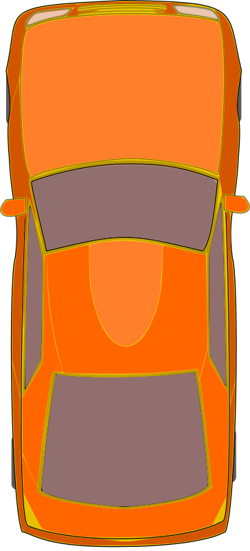 Free Orange Car (Top View)
