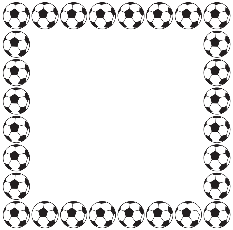 free clipart football border aungkarns rh 1001freedownloads com snowflake border clipart black and white snowflake border clipart black and white