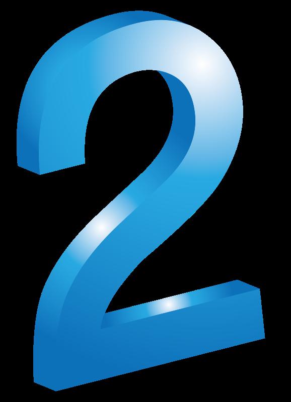 Free الرقم إثنان -tow -deux 2