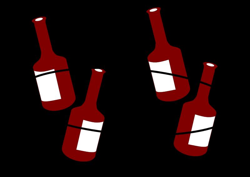 Free tanzende Flaschen