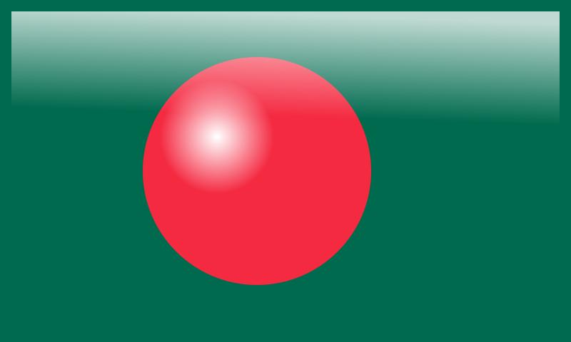 Free Bangladesh Glossy Flag III
