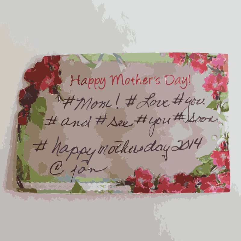 Free Mothers Day Card with hashtags