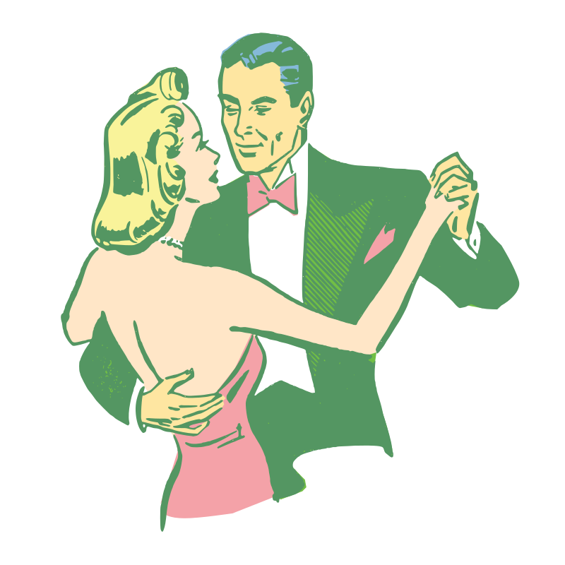 Free Dancing Couple Colorized