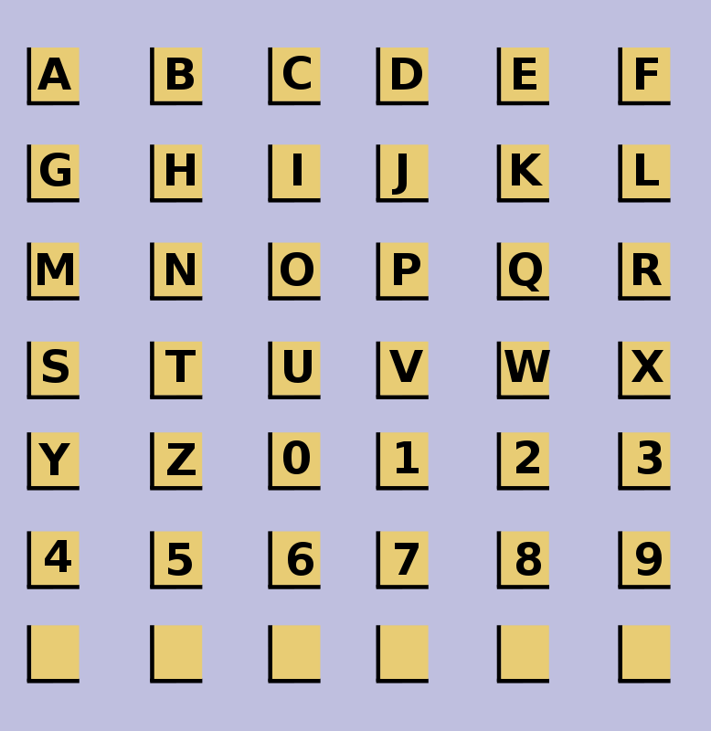 Free Clipart: Alphanumeric Tiles | Woofer