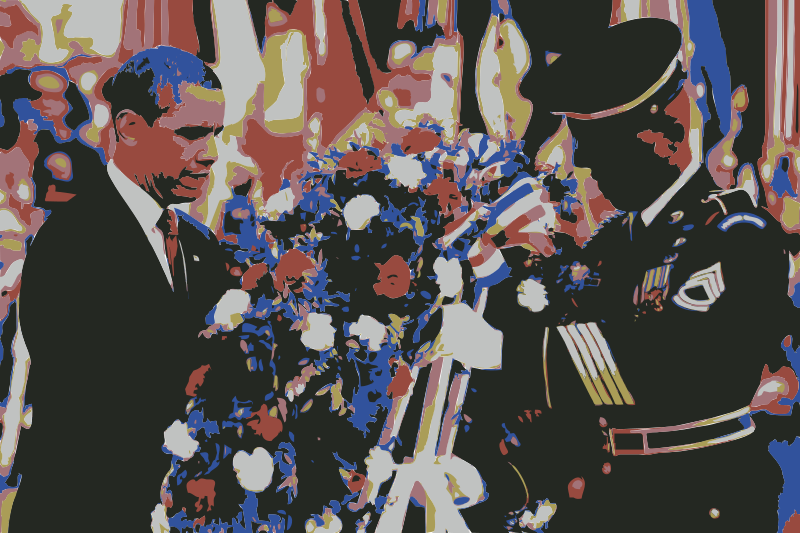 Free The U.S. Army and President Obama Wreath Laying