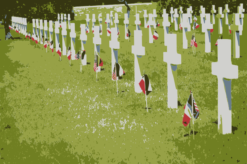 Free Rhone American Cemetery and Memorial Colorized