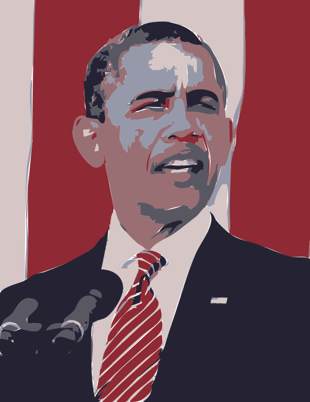 Free Clipart: President Barack Obama Memorial Day 2012 | wanglizhong