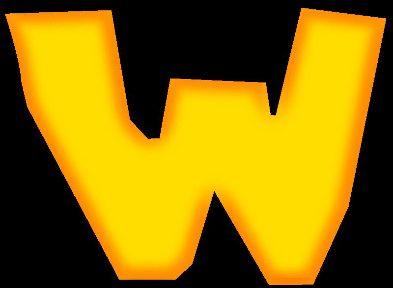 Free Clipart: Orange ?W? | Wuzzy