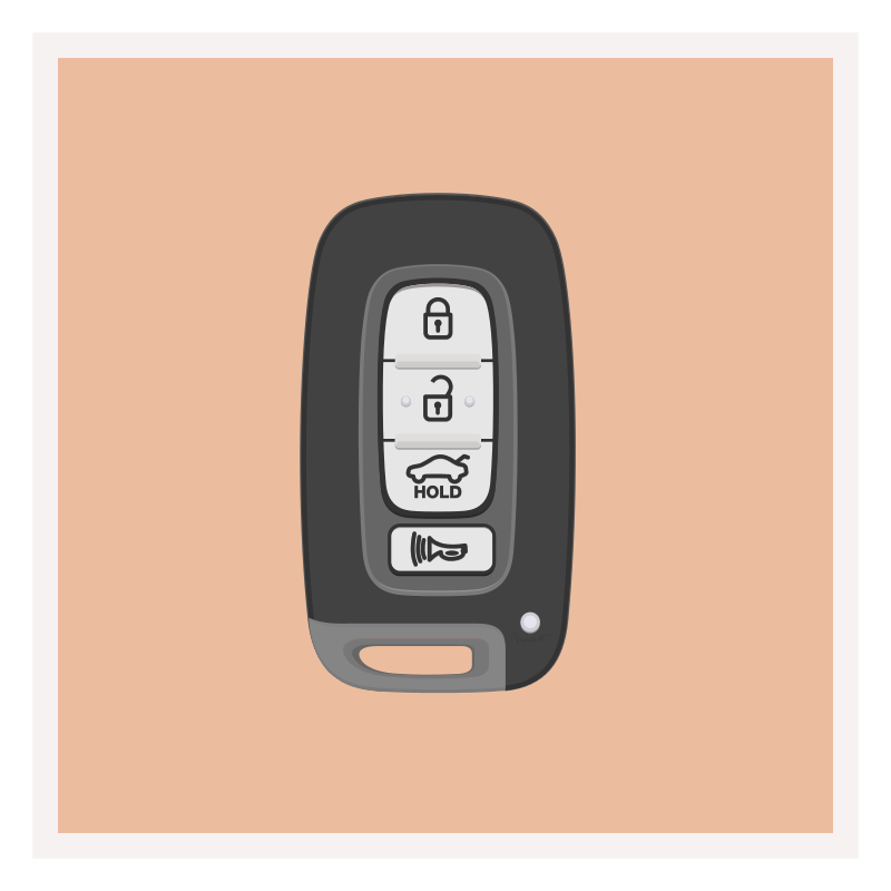 Free Clipart: Car Key Fob Remote | barrettward