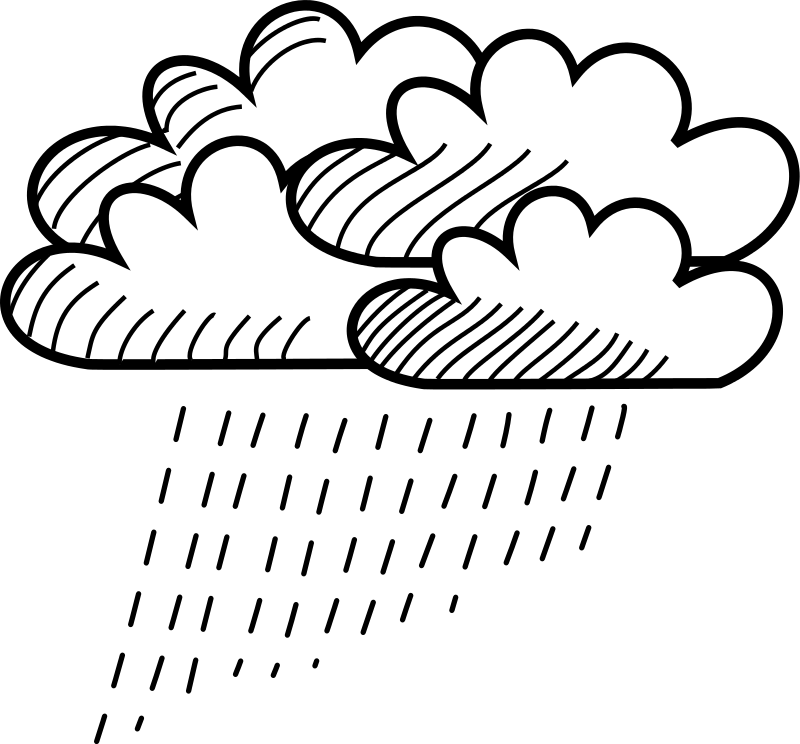 Free Rainy Stick Figure Cloud Cluster
