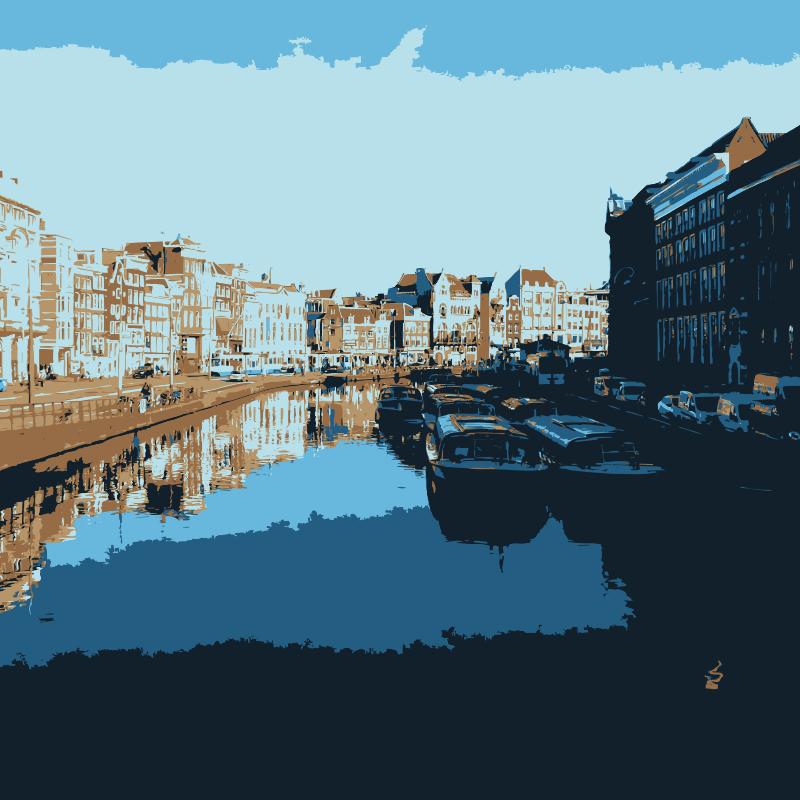 Free Clipart: Amsterdam waterway | jonphillips