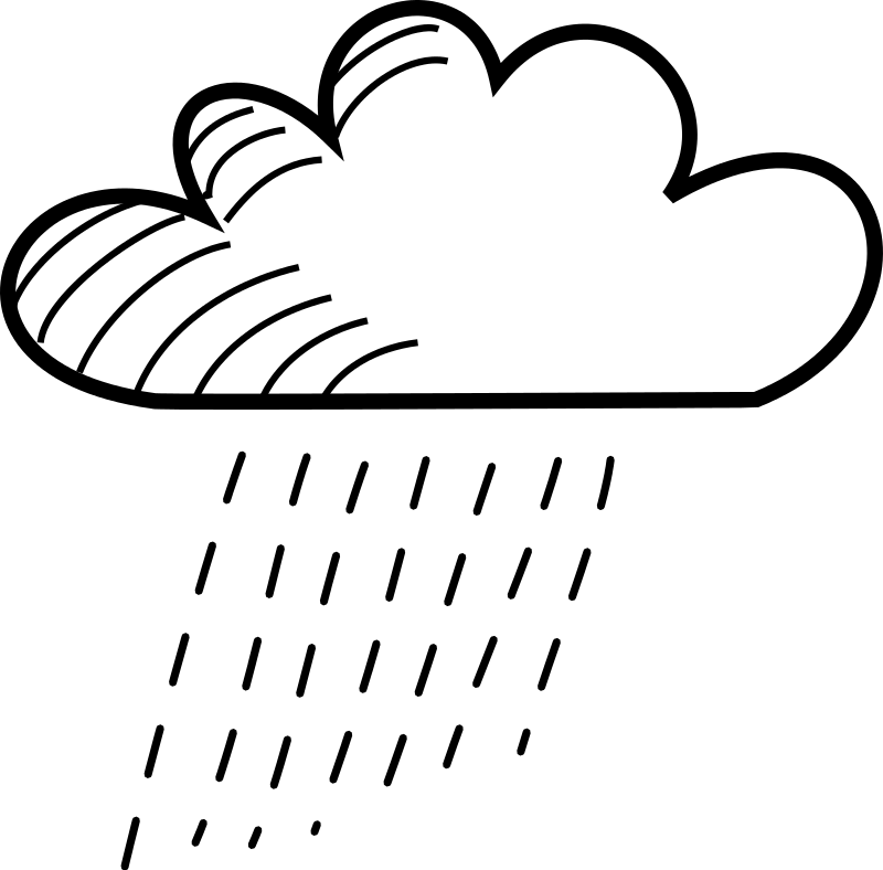 Free Rainy Stick Figure Cloud