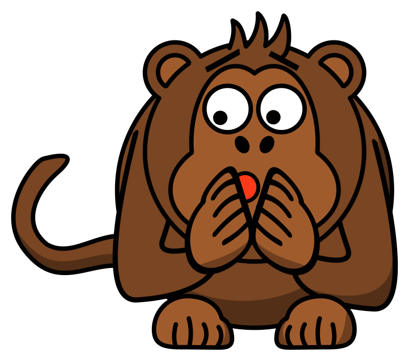 Free scared monkey
