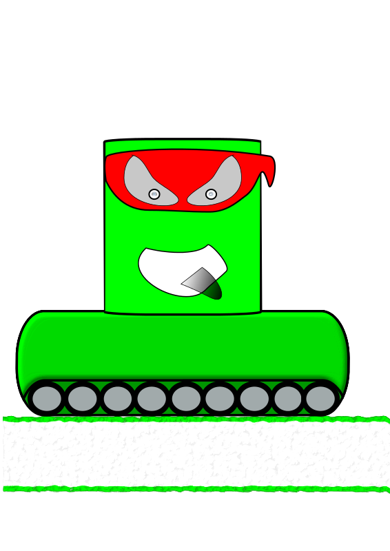 Free Green Canman Ninja with a continuous track