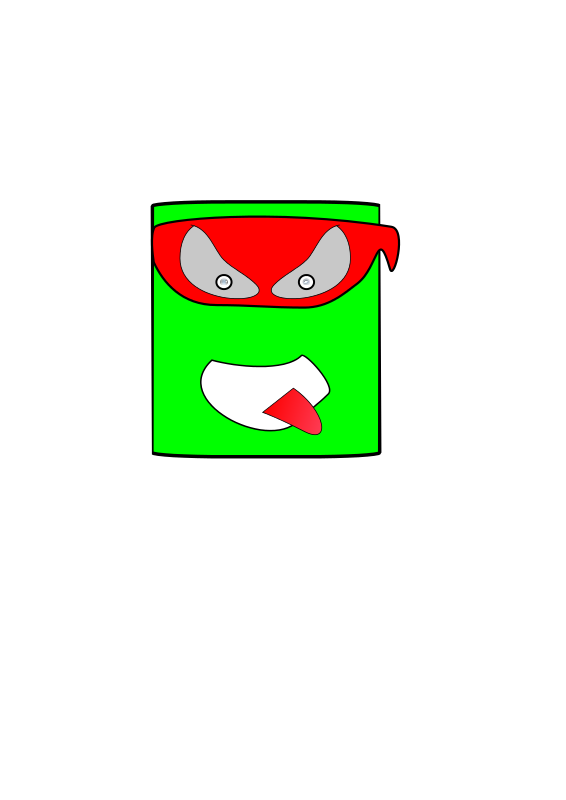 Free Clipart: Green Canman Ninja | roboxman