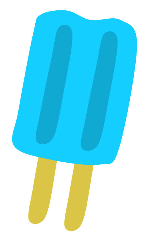 Free Blue Popsicle