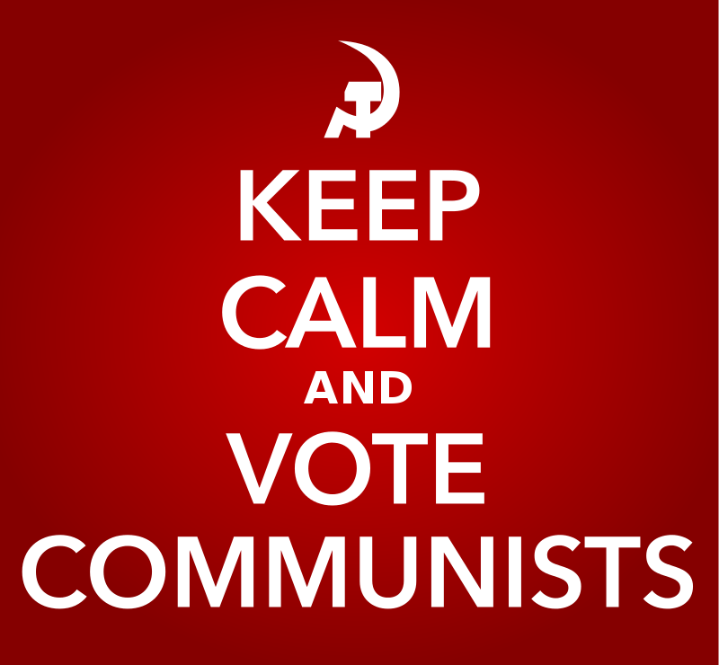 Free KEEP CALM AND VOTE COMMUNISTS