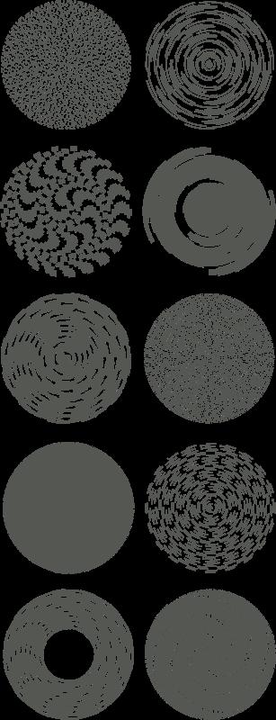 Free spiral designs