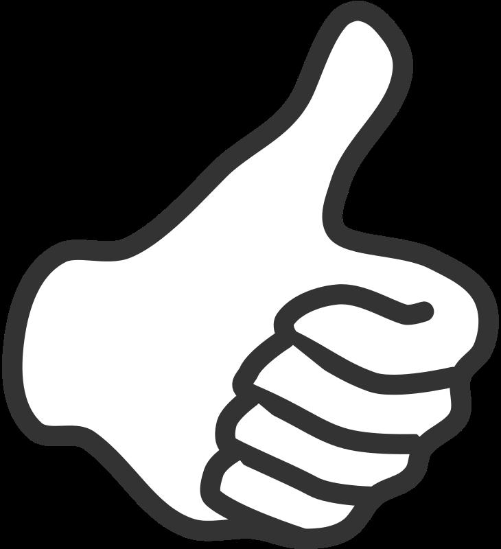 Free Thumb up - white