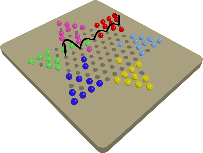 Free Chinese Checkers Game In Progress