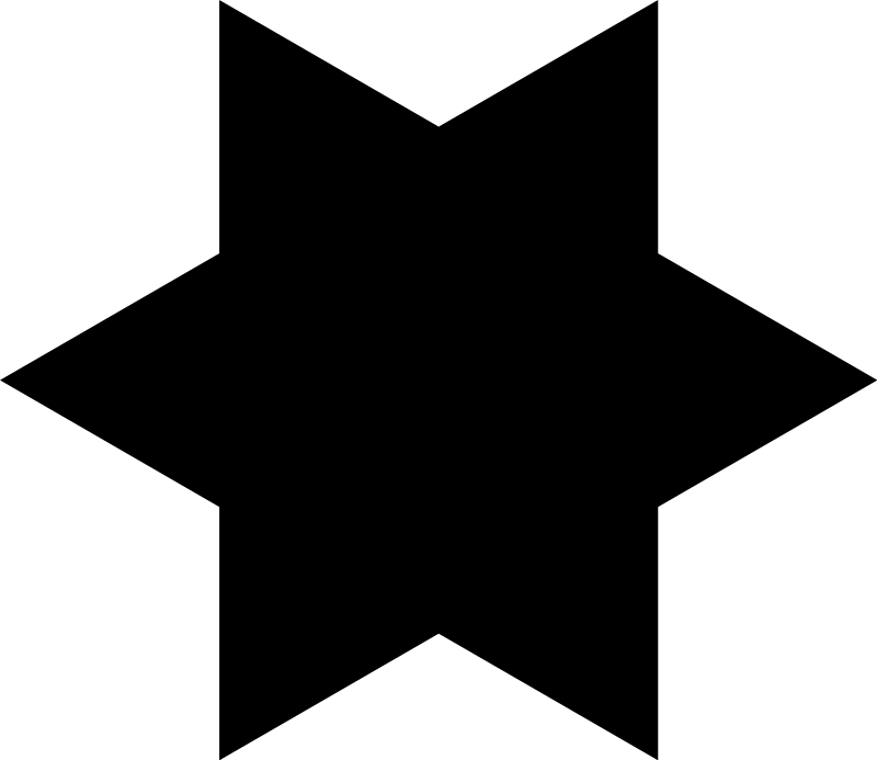 Free Hexagram Silhouette