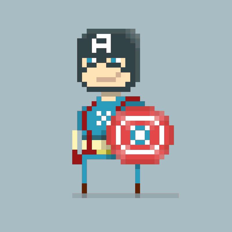Free Captain America PxL Peep