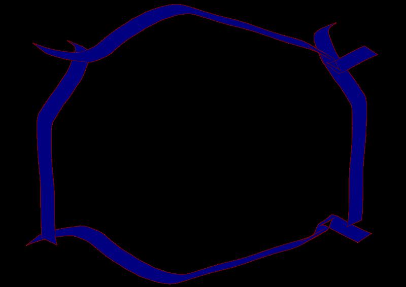 Free Blue ribbon border