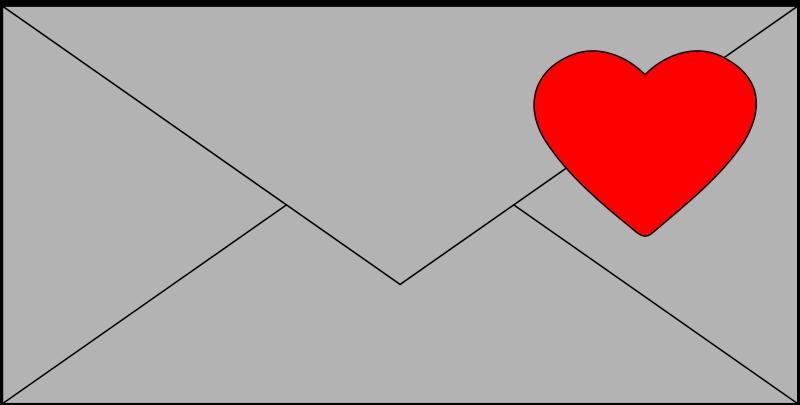 Free letter & hart + tutorial