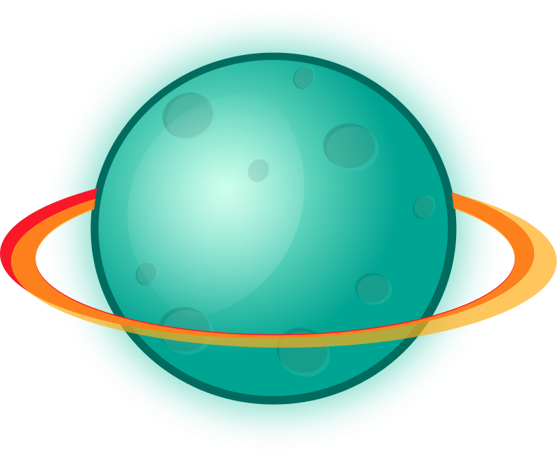 Free Planet with rings