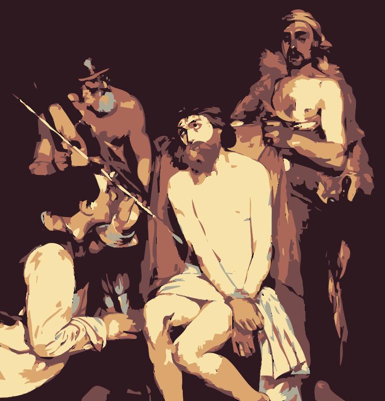 Free Jesus Mocked by Edouard Manet  Jesus